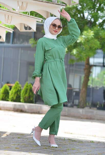 VENEZİA WEAR - Ngs Giyim Büzgülü Cazz Takım - Yeşil (1)