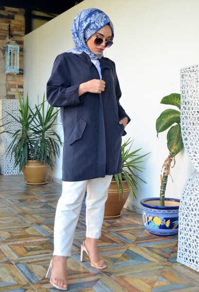VENEZİA WEAR - Venezia Wear Cep Detaylı Ceket - Lacivert (1)