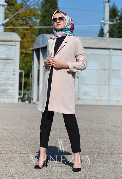 VENEZİA WEAR - Venezia Wear Cepli Blazer Ceket - Pudra (1)
