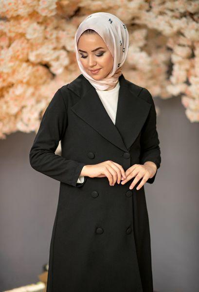 VENEZİA WEAR - Venezia Wear Düğmeli Ceketli Takım - Siyah (1)
