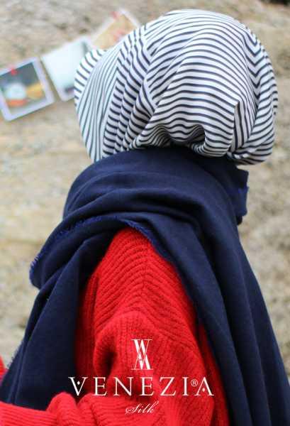 VENEZİA WEAR - Venezia Wear Düz Renk Atkı - Lacivert (1)