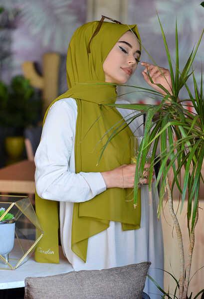 VENEZİA WEAR - Venezia Wear Düz Renk Caz Şal - Yağ Yeşili (1)
