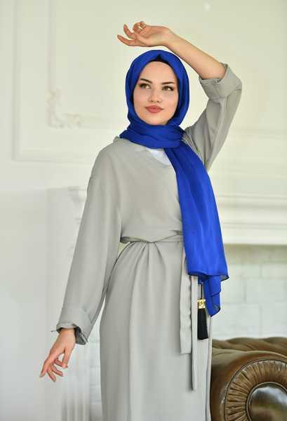 VENEZİA WEAR - Venezia Wear Düz Renk Kimono Takım - Gri (1)