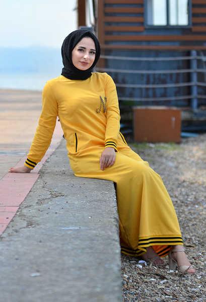 VENEZİA WEAR - Venezia Wear Düz Spor Elbise - Sarı (1)
