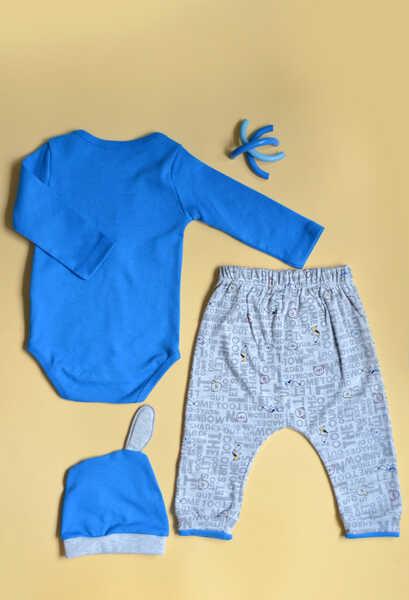 VENEZİA WEAR - Venezia Wear Erkek Bebek Köpekli 3'lü Takım - Mavi (1)