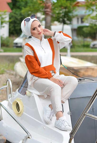 VENEZİA WEAR - Venezia Wear Fermuarlı Cep Detaylı Takım - Kiremit (1)