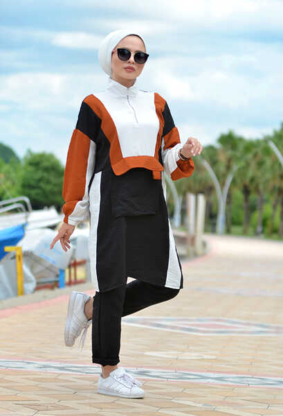 VENEZİA WEAR - Venezia Wear Fermuarlı Cep Detaylı Takım - Siyah (1)