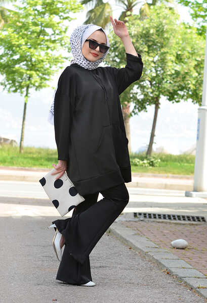 VENEZİA WEAR - Venezia Wear İspanyol Paça Pantolon - Siyah (1)