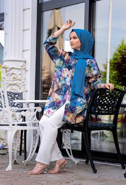 VENEZİA WEAR - Venezia Wear Karma Desen Gömlek - Lacivert (1)