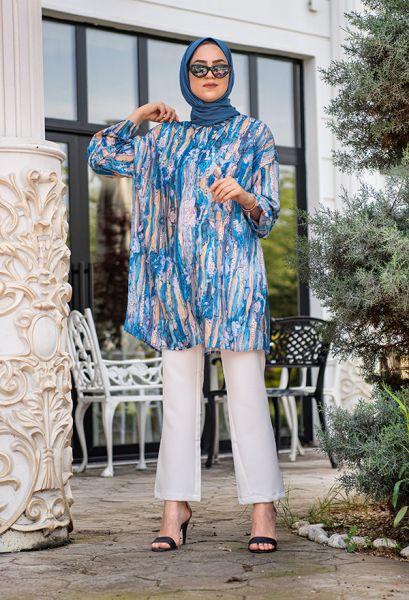 VENEZİA WEAR - Venezia Wear Karma Desen Gömlek - Mavi (1)