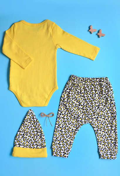 VENEZİA WEAR - Venezia Wear Cool Girl 3'lü Takım - Sarı (1)