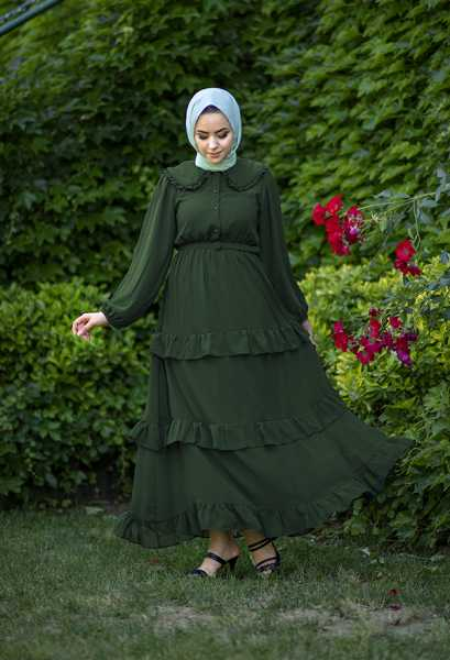 VENEZİA WEAR - Venezia Wear Masal Elbise - Zümrüt Yeşili (1)