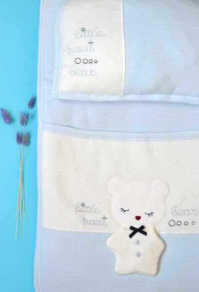 VENEZİA WEAR - Venezia Wear Sweet Bear 2'li Alt Açma Takım - Mavi (1)