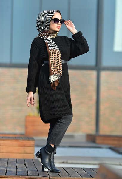 VENEZİA WEAR - Venezia Wear Triko Kazak - Siyah (1)