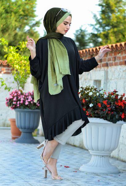 VENEZİA WEAR - Venezia Wear Yarasa Tesettür Tunik - Siyah (1)