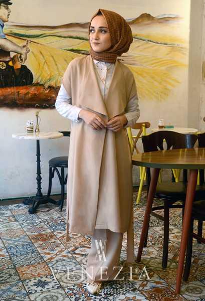VENEZİA WEAR - Venezia Wear Yelekli Pantolon Takım - Vizon (1)