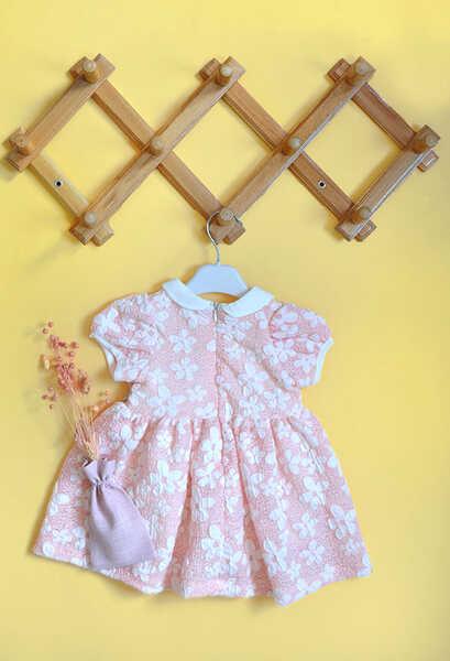 VENEZİA WEAR - Venezia Wear Çiçekli Kız Çocuk Elbise - Pembe (1)